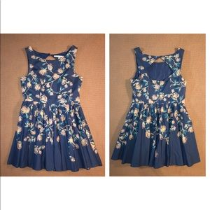 Vintage Cut Floral Swing Dress